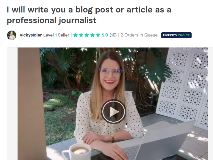 Article writers on fiverr.com