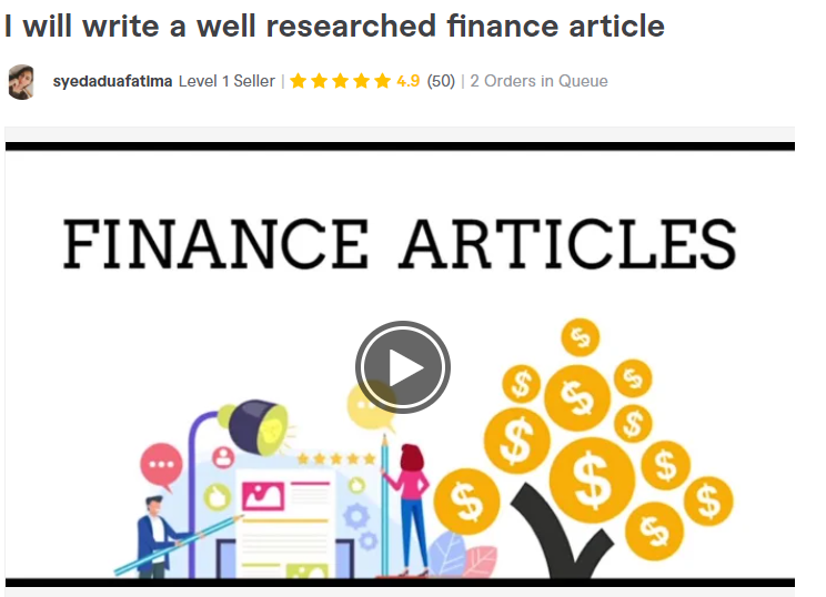 Financial Article writer